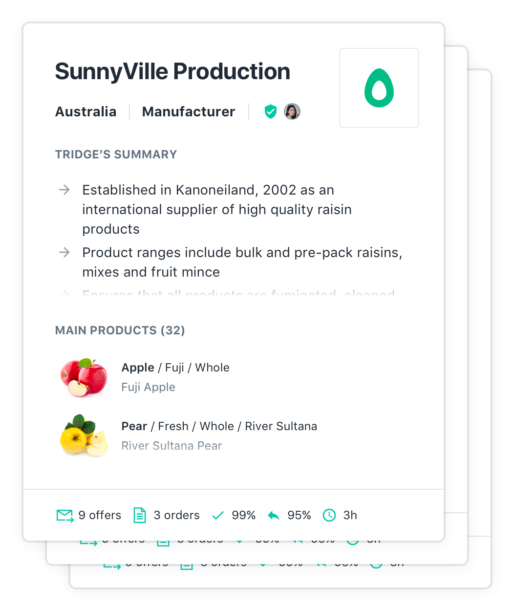 Explore verified suppliers in food & agriculture - Tridge